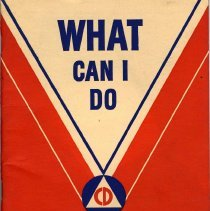 Image of What Can I Do. The Citizen's Handbook for War. Issued by United States Office of Civilian Defense. Washington, D.C., 1942. - Booklet