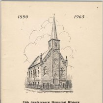 Image of Booklet: Seventy-fifth Anniversary Memorial History of Trinity Evangelical Lutheran Church, Hoboken, 1965. - Pamphlet