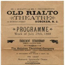 "Image of Program for ""After Dark"" at the Old Rialto Theatre, Hoboken, week of July 29, [1929]. - Program, Theater"