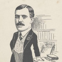 """Image of Caricature of E.W. Arrowsmith, Jr.,, [Hoboken, n.d., ca. 1907-1916]. From album, """"Just for Fun""""; archives catalogue 2005.018.0001. - Print"""
