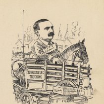 "Image of Caricature of C.M. Bernegau , [Hoboken, n.d., ca. 1907-1916]. From album, ""Just for Fun""; archives catalogue 2005.018.0001. - Print"
