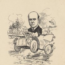 "Image of Caricature of J.W. Rufus Besson, [Hoboken, n.d., ca. 1907-1916]. From album, ""Just for Fun""; archives catalogue 2005.018.0001. - Print"