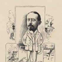 """Image of Caricature of C. Alfred Burhorn, [Hoboken, n.d., ca. 1907-1916]. From album, """"Just for Fun""""; archives catalogue 2005.018.0001. - Print"""