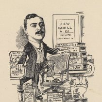 "Image of Caricature of William M. Cahill, [Hoboken, n.d., ca. 1907-1916]. From album, ""Just for Fun""; archives catalogue 2005.018.0001. - Print"