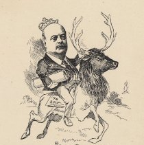 """Image of Caricature of John F. Callahan, [Hoboken, n.d., ca. 1907-1916]. From album, """"Just for Fun""""; archives catalogue 2005.018.0001. - Print"""