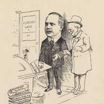 "Image of Caricature of Palmer Campbell, [Hoboken, n.d., ca. 1907-1916]. From album, ""Just for Fun""; archives catalogue 2005.018.0001. - Print"