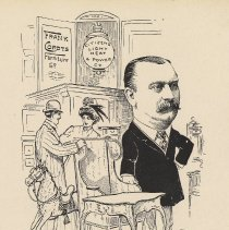 "Image of Caricature of Frank Cordts, [Hoboken, n.d., ca. 1907-1916]. From album, ""Just for Fun""; archives catalogue 2005.018.0001. - Print"