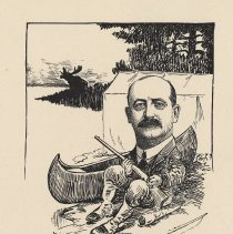 """Image of Caricature of R. R. Debacher, [Hoboken, n.d., ca. 1907-1916]. From album, """"Just for Fun""""; archives catalogue 2005.018.0001. - Print"""