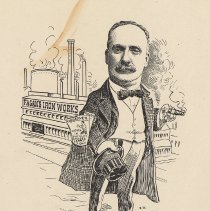 """Image of Caricature of Lawrence Fagan, [Hoboken, n.d., ca. 1907-1916]. From album, """"Just for Fun""""; archives catalogue 2005.018.0001. - Print"""