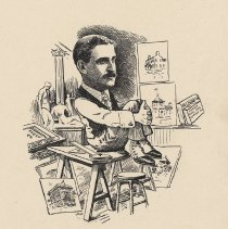 "Image of Caricature of Charles Fall, [Hoboken, n.d., ca. 1907-1916]. From album, ""Just for Fun""; archives catalogue 2005.018.0001. - Print"