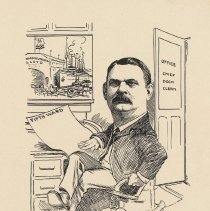 "Image of Caricature of Gustav Friedrichs, [Hoboken, n.d., ca. 1907-1916]. From album, ""Just for Fun""; archives catalogue 2005.018.0001. - Print"