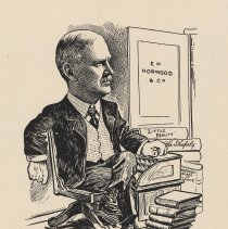 "Image of Caricature of E. H. Horwood, [Hoboken, n.d., ca. 1907-1913. From album, ""Just for Fun""; archives catalogue 2005.018.0001. - Print"
