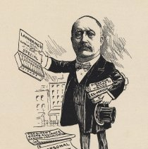 "Image of Caricature of Adolph Lankering, [Hoboken, n.d., ca. 1907-1916]. From album, ""Just for Fun""; archives catalogue 2005.018.0001. - Print"