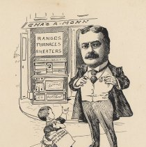 """Image of Caricature of Charles A. Mohn, [Hoboken, n.d., ca. 1907-1916]. From album, """"Just for Fun""""; archives catalogue 2005.018.0001. - Print"""