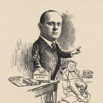 "Image of Caricature of George G. Schreiber, [Hoboken, n.d., ca. 1907-1916]. From album, ""Just for Fun""; archives catalogue 2005.018.0001. - Print"