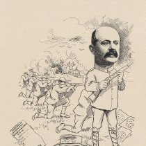 """Image of Caricature of Ernst Staude, [Hoboken, n.d., ca. 1907-1916]. From album, """"Just for Fun""""; archives catalogue 2005.018.0001. - Print"""