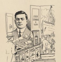 "Image of Caricature of N.H. Steneck, [Hoboken, n.d., ca. 1907-1916]. From album, ""Just for Fun""; archives catalogue 2005.018.0001. - Print"