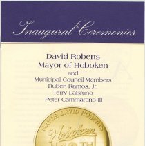 Image of Program for the inauguration and swearing-in of Mayor David Roberts and Council members, Hoboken, July 1, 2005. - Program