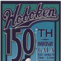 Image of Announcement of 150th Anniversary Gala, Saturday April 9, [2005], Aboard the Cornucopia. Issued Hoboken, 2005. - Announcement