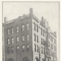 Image of Printed B+W photograph of Second National Bank, 77 River St, Hoboken, no date, ca. 1900-1908. - Print, Photographic