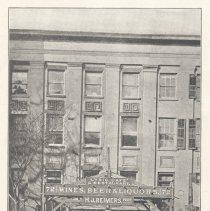 Image of Printed B+W photograph of the Lyric Cafe, 72 Hudson Street., Hoboken, ca. 1906-1908. - Print, Photographic