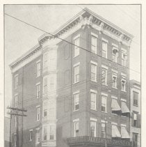 Image of Printed B+W photograph of Jefferson Trust Company, corner of First and Jefferson Sts., Hoboken, ca. 1906-1908. - Print, Photographic