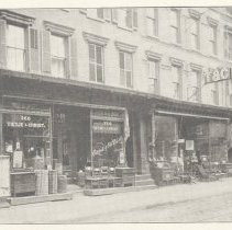 Image of Printed B+W photograph of Tietje & Christ, home furnishings, 258-260 First Street, Hoboken, ca. 1906-1908. - Print, Photographic