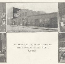 Image of Five printed B+W photographs of Leonard Sheet Metal Works, Inc., 215-221 Grand Street, Hoboken, ca. 1905-1908. - Print, Photographic