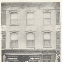 Image of Printed B+W photograph of Mme. Rudolph's Millinery House, 516 Washington St., Hoboken, ca. 1906-1908. - Print, Photographic