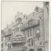 Image of Printed B+W photograph of Gayety Theatre, 1013-1019 Washington St., Hoboken, no date, ca. 1908. - Print, Photographic