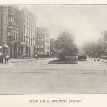 Image of Printed B+W photograph of  View on Eleventh Street, Hoboken, ca. 1890's. - Print, Photographic