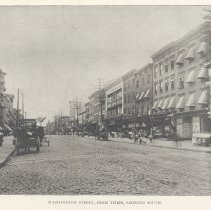 Image of Printed B+W photograph of  Washington Street, from Third St., looking south, Hoboken, ca.1908. - Print, Photographic