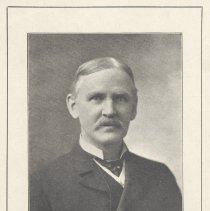 Image of Printed B+W photograph of Edward H. Horwood, President, Hoboken Board of Trade, Hoboken, ca. 1908. - Print, Photographic