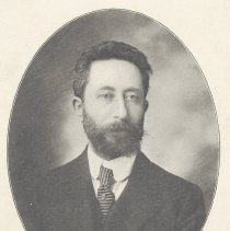 Image of Printed B+W photograph of Leo Stein, Vice-President, Hoboken Board of Trade, Hoboken, ca. 1908. - Print, Photographic