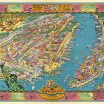 Image of Map: Bird's-eye View of Hoboken.... New York's Last Seacoast of Bohemia. Morley & Throckmorton. (NY): Hoboken Map Co., 1929.  - Map