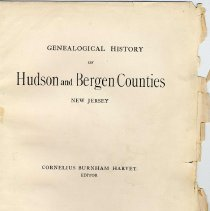 Image of Genealogical History of Hudson and Bergen Counties, New Jersey. - Book