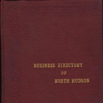 Image of Business Directory of North Hudson. A Classified Exhibit of the Retail, Banking, Wholesale, Manufacturing and Professional Interests of West Hoboken.. - Book