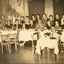 Image of Digital image of sepia-tone photo of luncheon of the Ladies Auxillary, Fred DeSapio Democratic Association, Hoboken, no date, ca. 1947-1950. - Print, Photographic