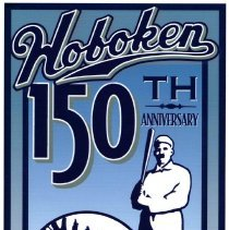 """Image of Digital image of artwork """"Hoboken 150th Anniversary"""" with  baseball heritage motif; commissioned by the City of Hoboken, 2005. - Drawing"""