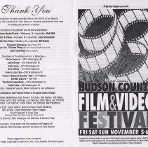 Image of Program: Fourth Annual Hudson County Film & Video Festival, Hoboken, Nov. 5-7, [1993]; program for closing night [Sunday, November 7]. - Program