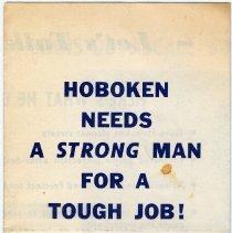 Image of Digital image of political brochure for mayoral candidate Louis DePascale, Hoboken, [1965]. - Handbill, Political