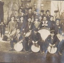 Image of Digital image of photo of a group of musicians (Hoboken Playgrounds Field Band members?), Hoboken, no date, circa 1900-1915. - Print, Photographic