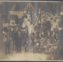 Image of Digital image of photo of a May Walk (May Day) celebration in a play ground, Hoboken, no date, circa May, 1900-1915. - Print, Photographic