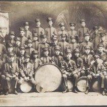 Image of Digital image of photo of the Hoboken Playgrounds Field Band, Hoboken, 1917. - Print, Photographic