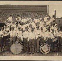 Image of Digital image of photo of the Hoboken Playgrounds Field Band, Hoboken,1933. - Print, Photographic