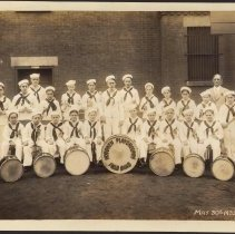 Image of Digital image of photo of the Hoboken Playgrounds Field Band, Hoboken, May 30, 1935. - Print, Photographic