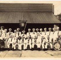 Image of Digital image of photo of the Hoboken Playgrounds Field Band, Hoboken,1929. - Print, Photographic