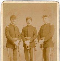 Image of Digital image of cabinet photo of Julius Durstewitz, Col. Richard Stevens, George Durstewitz, Hoboken, n.d, ca. 1892-1900. - Print, Photographic
