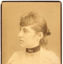 Image of Digital image of cabinet photo of Mary Szontag Durstewitz, Hoboken, no date, circa 1885-1890. - Photograph