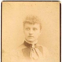 Image of Digital image of cabinet photo of Jule  [Julia] Durstewitz, Hoboken, no date, circa 1885-1890. - Photograph